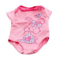 """Pink Rompers Jumpsuit Bodysuit Clothes for 15"""" American Girl Bitty Baby Doll"""