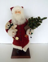 "Vintage Dykema Hand Crafted Signed Santa 17"" Whimsey St Nicholas Fr Christmas"