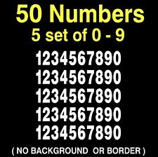 0-9 Numbers Vinyl Sticker Decal Sheet , 50 Total Numbers,  5 set of 10