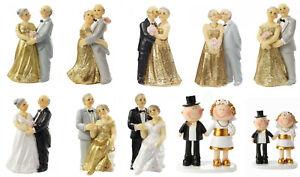 Goldpaar Brautpaar Hochzeitspaar Goldene Diamanten Eiserne Gnaden Hochzeit Torte