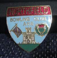 Fantastic pin badge Northfield Bowling Club Ayr sport