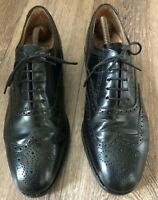 LOAKE L1 MEN BLACK LEATHER LACE UP BROGUES SHOES SIZE UK 8 EU 42  New Sole &heel
