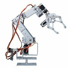 Robot Arm Clamp Set 6 DOF, Robotics Arm w/ Claw(With Servo, Arduino Ctrl, USA)