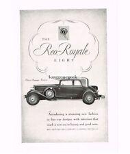 1931 Reo-Royale Eight Victoria Automobile Car art Vtg Print Ad