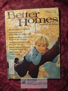 Better Homes and & Gardens OCTOBER 1973 Home Building Decorating Gardening