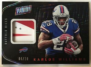 Karlos Williams 2016 Panini The National HYPNOTIC Foil 2 color Glove Patch #d/10