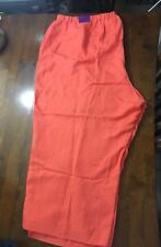 NWT Lane Bryant Pink/Orange Linen Capris Size 28W Cute Lightweight Casual