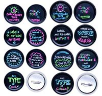(16) Chalk Tops Blackboard Finish Mason Jar Lids 8 Regular Mouth + 8 Wide Mouth