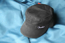 Fender Military Style 100% Cotton Twill Cap in Black, Large/X Large, 9190660506
