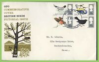 G.B. 1966 Birds set on GPO First Day Cover, Southend