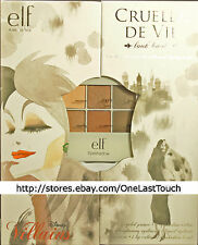 ELF* Disney Villains CRUELLA DE VIL 7pc LOOKBOOK Day+Night EYE+LIP+PRIMER Ltd Ed