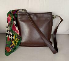 Vintage Coach Slim Duffle Bag/shoulder bag Med-Large brown- Very Good Condition!
