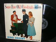 Fun Cover with BING CROSBY Selling Chestnuts LP Buddy Cole DECCA Black Label