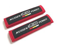 2pcs MUGEN Soft Fabric Car Seat Belt Cover Shoulder Pads for Honda