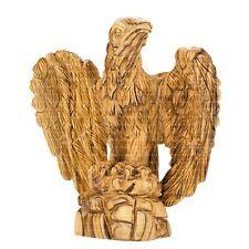 Olive Wood Carved Figure of Eagle