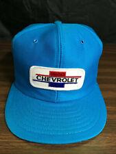 Chevrolet Patch Snapback Hat Cap Vintage Blue Trucker Farmer Louisville MFG USA