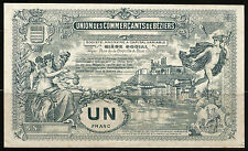 Billet 1 Franc, Union des Commerçants de Béziers. Vers 1920. France. Superbe