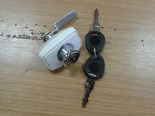 MOTORHOME / CARAVAN FAP RECTANGULAR PUSH LOCK WHITE 73274