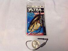 Mustad 91768UB18 5/0 Power Lock Plus Bait Keeper 1/8 Oz Hook 3 Count
