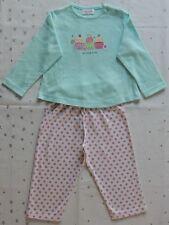 Primark Baby Girls Cupcakes & Pink Polkadot Pyjamas Set Size 6-12 Months