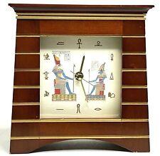 The British Museum Gift Collection Egyptian Theme Hieroglyph Desk / Mantel Clock