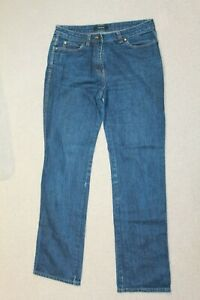 Jaeger Blue Straight Cut Jeans Mid Rise Mid Wash Size UK 12