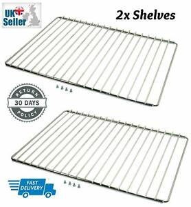 2 x UNIVERSAL ADJUSTABLE Cooker Oven Shelves Trays Wire Shelf Rack Grill Spares