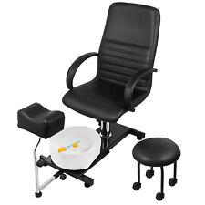 Hydraulic Spa Pedicure Chair W/ Footbath PVC material Easy-Clean Lift Adjustable