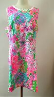 NEW! AUTH Lilly P MILA STRETCH SHIFT DRESS Multi Paradise, US 16