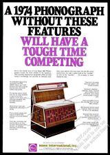 1974 Rowe AMI jukebox photo vintage trade print ad