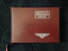 Bentley Eight Owners Manual Handbook 1987 1988 OEM NOS TSD 4715