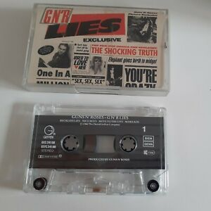 * Guns N'Roses - G N'R LIES - UNCENSORED INSERT Cassette (1986) -TESTED/ RARE