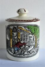 Adams Wedgwood Old Weller Ducking Stiggings Preserve Pot with Lid - Rare