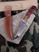 Elk Ridge 9.5 Hunter Fixed Blade Knife Burlwood Cocobolo Handle Wood Hunting 085