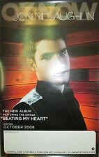 JON McLAUGHLIN Ok Now, orig 2-sided Island promotional poster, 2008, 11x17, EX