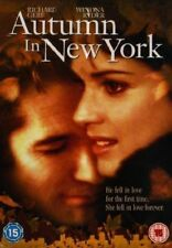 AUTUMN IN NEW YORK RICHARD GERE WINONA RYDER SONY UK REGION 2 DVD NEW RARE