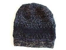 Beanie Mütze Wintermütze Wollmütze Häkelmütze schwarz grau Handarbeit