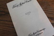 1910 Ford Model T Souvenir Booklet brochure, reprint, 16 pages, mint