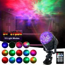 LED Ozean Projektionslampe Nachtlicht RGB Disco Party Licht mit Fernbedienung