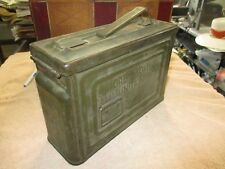 VINTAGE EMPTY WWII Reeves Cal .30 M1 Ammunition Box W. ORDINANCE symbol Stamping