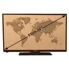 Telefunken 24 Zoll LED 61 cm 100Hz Fernseher ultra Slim USB HDMI VGA CI+ Scart