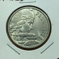 1955 France 100 Francs Coin, UNC.