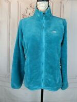 THE NORTH FACE Womens Fleece Jacket Size S Full Zip Turquoise Adjustable Waist