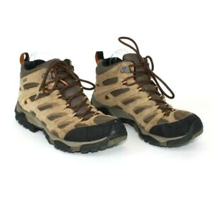 Merrell Moab Earth Mid Boots Brown Waterproof Hiking J88623 Men's 9.5