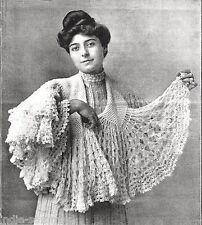 ~  Vintage Women's Crochet Circular Shawl Reproduction Crochet Pattern ~