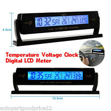 Multifunction Auto Car Voltage Clock Alarm Temperature Meter Digital LCD Monitor