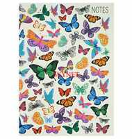 QUALITY A5 120 PAGES HARD BACK BOOK NOTEBOOK NOTEPAD BUTTERFLY