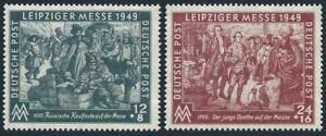 Germany-GDR 10NB12-NB13, hinged.Mi 240-241. Leipzig Autumn Fair,Soviet zone,1949