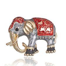 Women Party Jewelry Family Holiday Hot Lovely Enamel Animal Elephant Brooch Pin