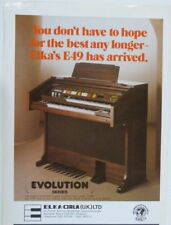 retro magazine advert 1984 ELKA E49 home organ